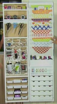 Over The Door Craft Organizer.