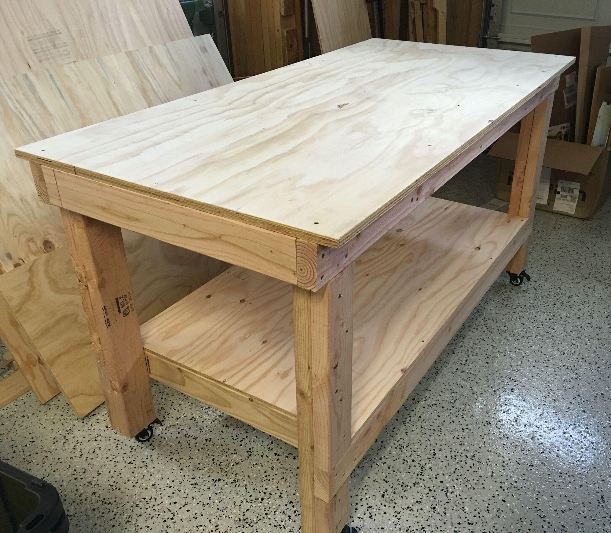 Easy DIY work bench! | Diy garage work bench, Diy ...