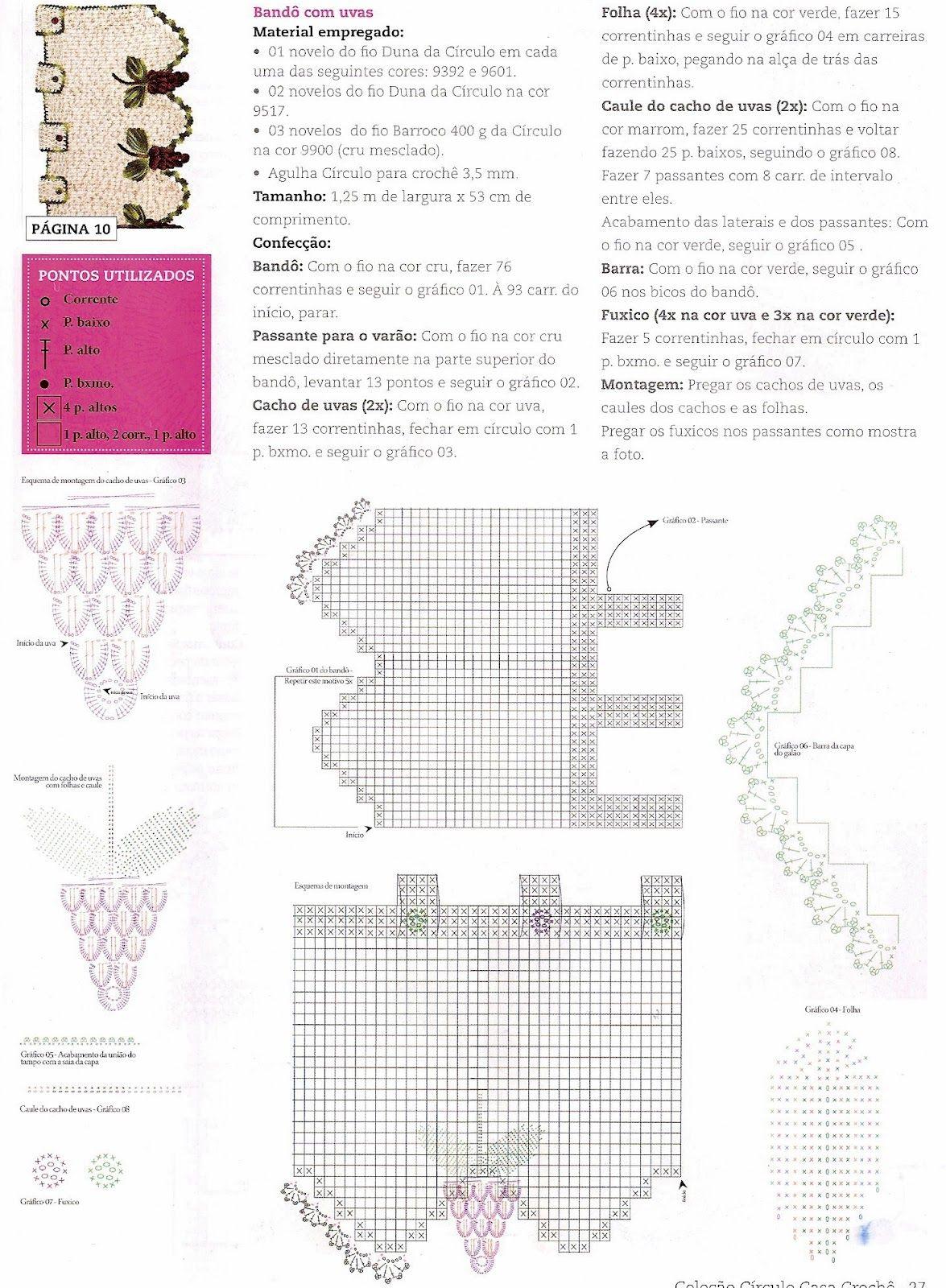 CROCHE COM RECEITAS: Como fazer Bandô para a Cortina Em Croche com ...