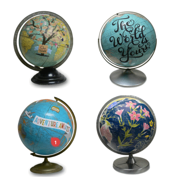 Hit the motherlode of custom gifts for mom at hatch vintage custom vintage globes by wendy gold absolutely adore her work gumiabroncs Gallery