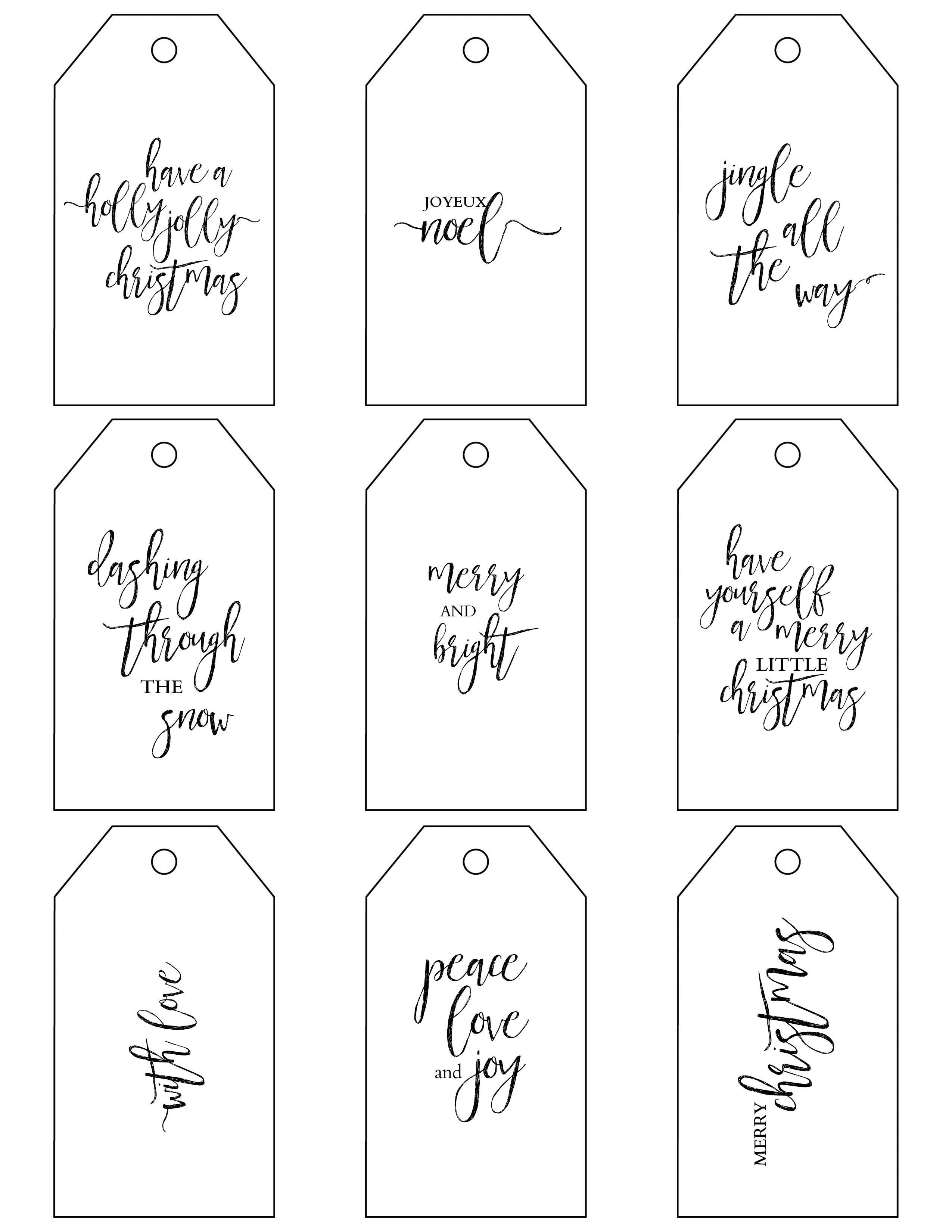 Printable Christmas T Tags Make Holiday Wrapping Simple