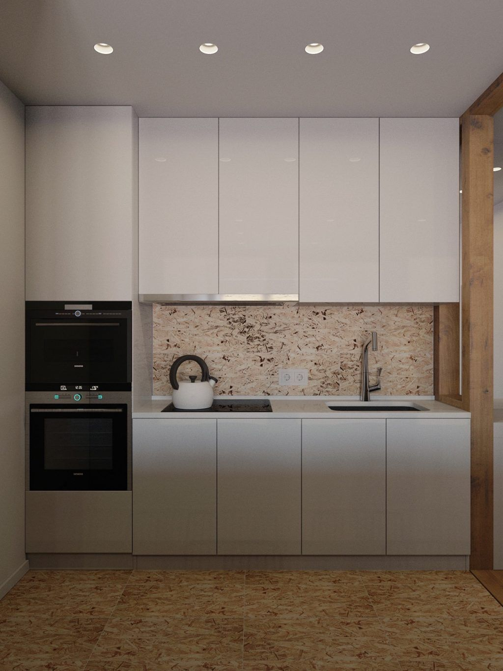compact office kitchen modern kitchen. The Fully Integrated Kitchen Is Sleek, Modern \u0026 Recedes From Sight When It\u0027s Not In Use.Kettle Feature Black And White Monochromatic Compact Office L