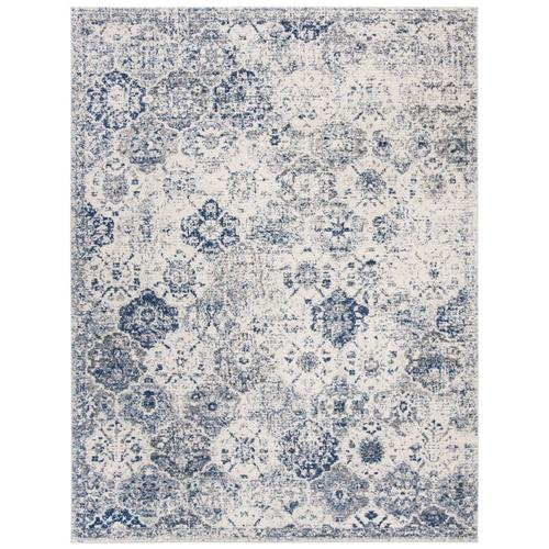 Shop Safavieh Madison Lyton 10 Ft X 14 Ft White Royal Blue In The Rugs Section Of Lowes Com Blue Area Rugs Vintage Area Rugs Blue Area