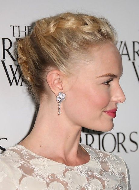Kate Bosworth Braided French Twist Updo Hairstyle Hair And Beauty