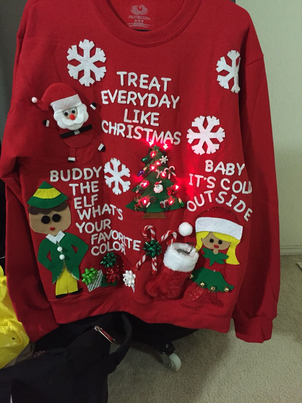 Elf Movie Inspired Ugly Christmas Sweater Diy Christmas