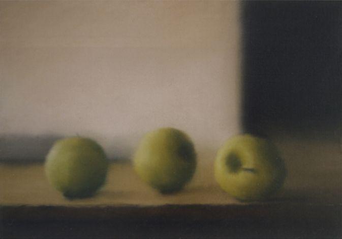 Äpfel, Gerhard Richter Apples, 1984 4 2 cm x 60 cm, Werkverzeichnis: 560-2 Öl auf Leinwand
