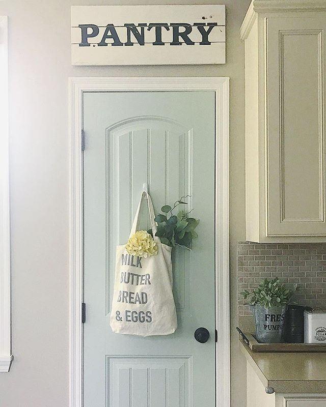 Pantry Door Paint Color Painted