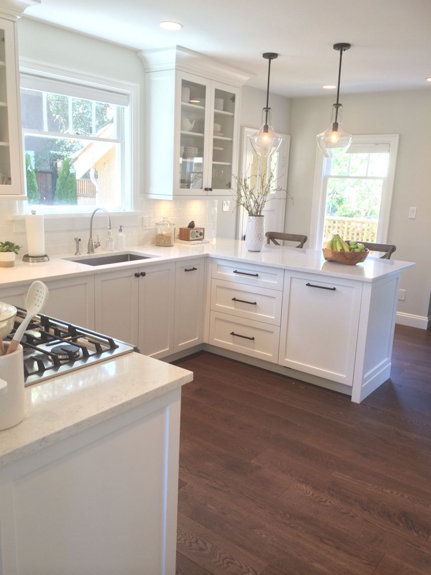 Pin By Whyhomebitly On Kitchen Remodel In 2020 Kitchen Remodel Small Small White Kitchens Kitchen Layout