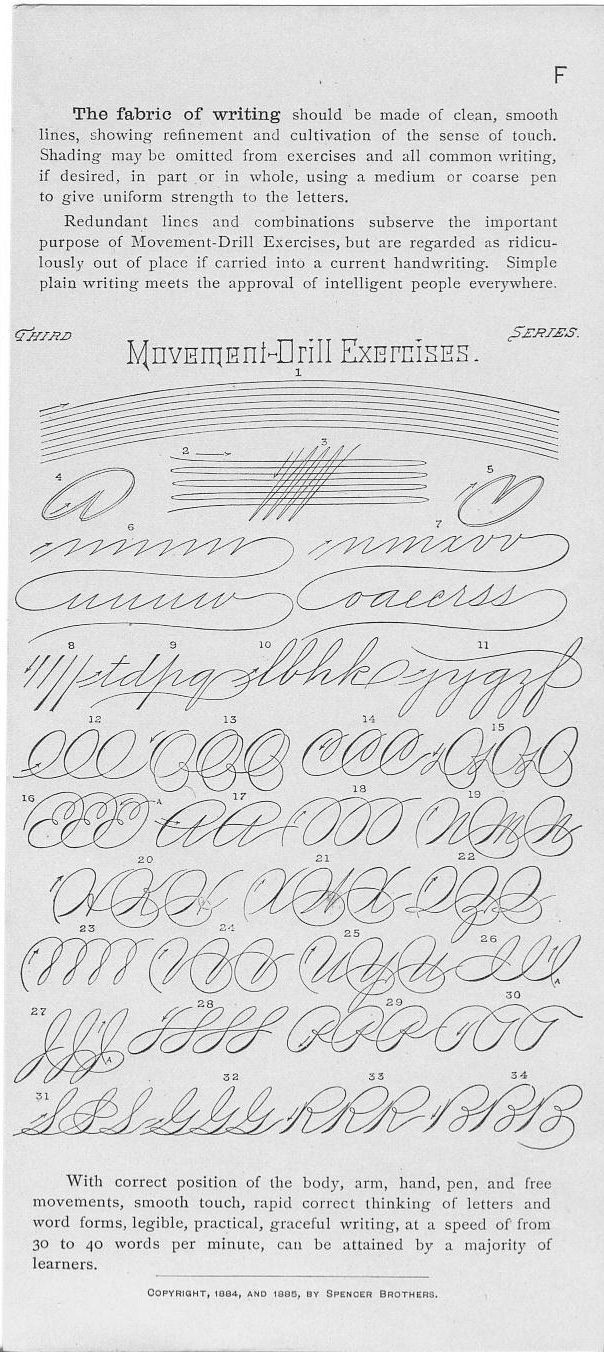 worksheet Spencerian Penmanship Worksheets spencerian movement drill exercises speedball pinterest exercises