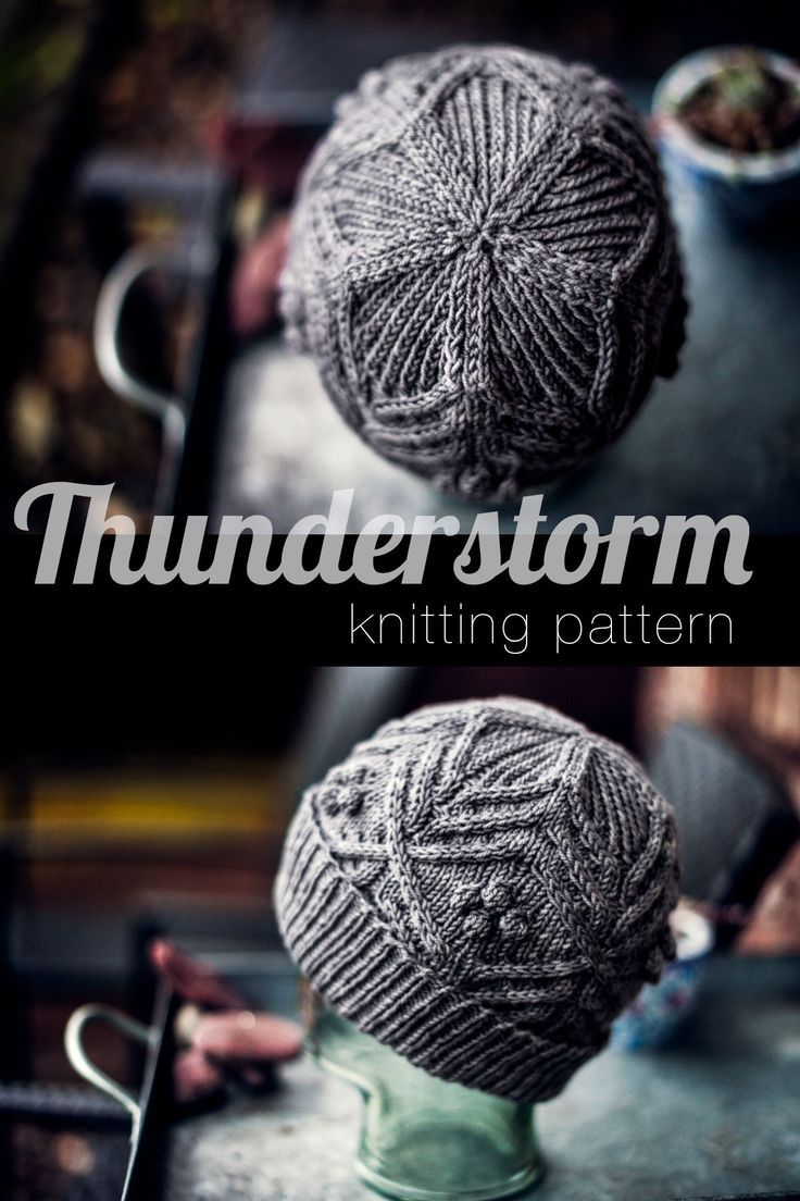The Thunderstorm toque is a fantastic knitting pattern featuring cables and bobbles. The resulting knitting project is cozy and perfect for fall and winter wear. You can wear this as a slouchy beanie or fold the brim for a snug fit.  #knit #knitting #cableknit #cableknithat #knithat #fallknitting #winterknitting #knittingbobbles #fallstyle #fall #knittingprojects