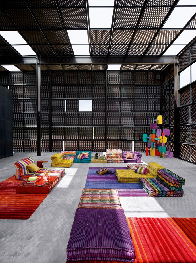 roche bobois floor cushion seating. Roche Bobois: Mah Jong Sofa Bobois Floor Cushion Seating O