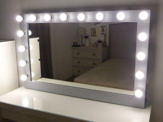 Best Xl Hollywood Vanity Mirror 43 X 27 Makeup Mirror With 640 x 480