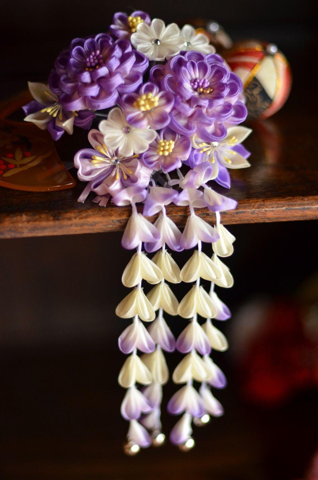 Japanese hair ornaments - Japanese Hair Accessory For Kimono Kanzashi