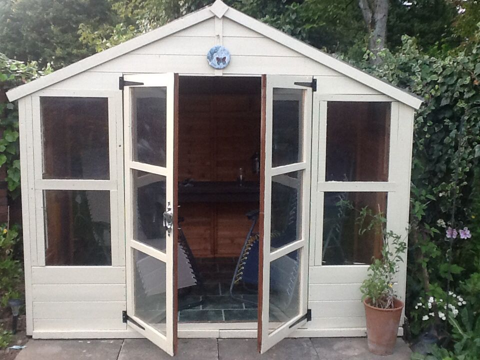 our lovehut in the garden an old shed revamped with recycled materials and - Garden Sheds From Recycled Materials
