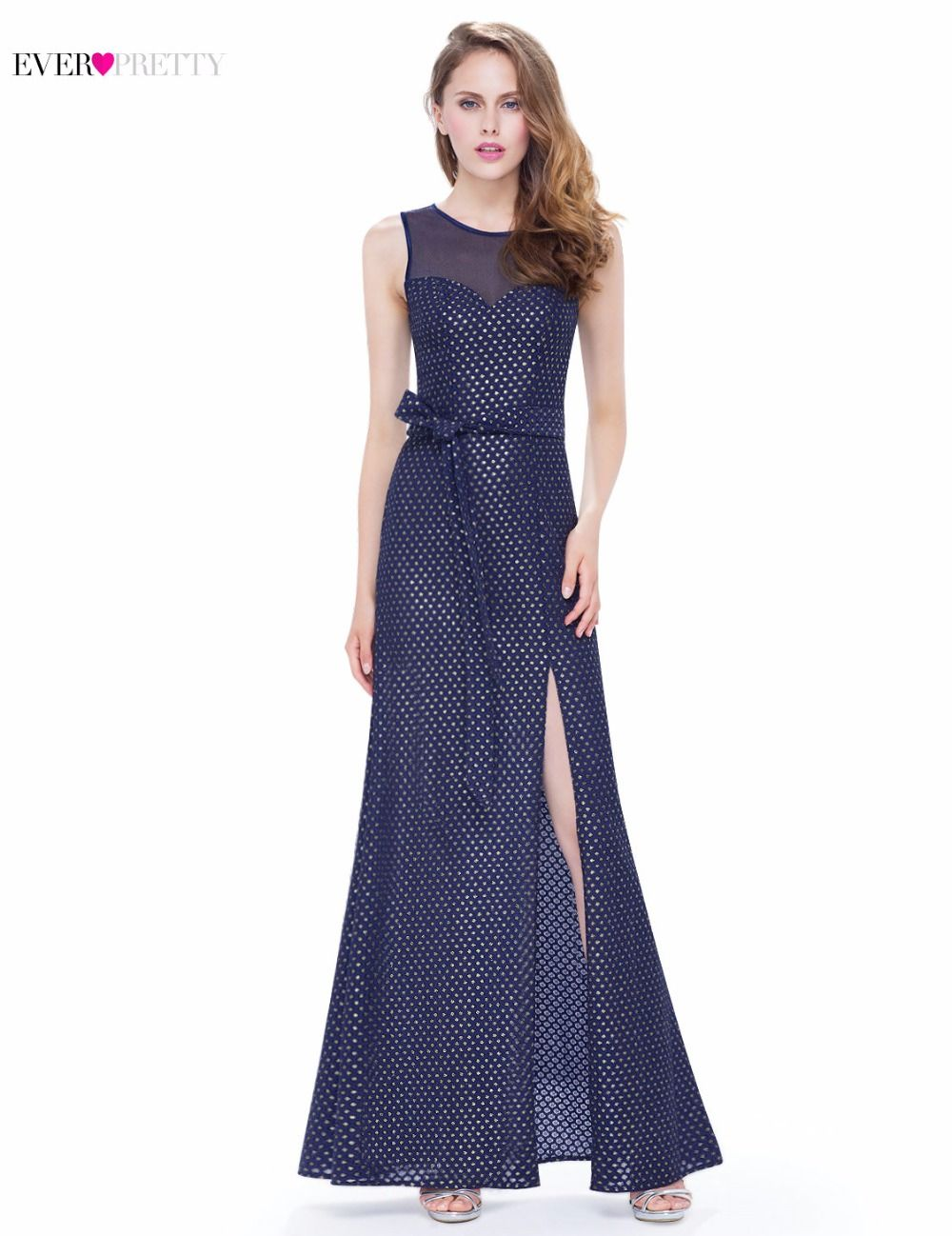 Click to buy ucuc evening party dress ever pretty a line navy blue