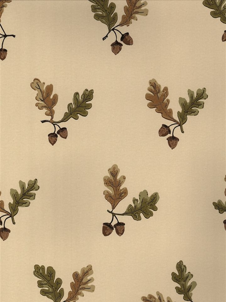 Oak Amp Acorn Green Wallpaper Charles Faudree
