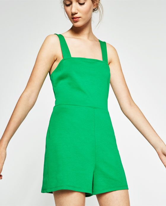 Image 2 of SQUARE NECKLINE JUMPSUIT from Zara