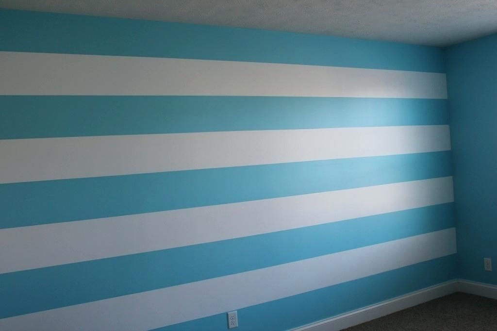 Image Result For Horizontal Stripes Painted On Walls Blue