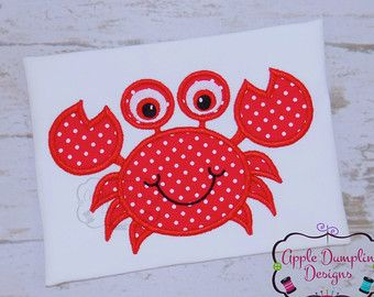 Crab applique design crab embroidery design by eandoapplique