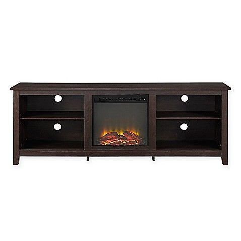 Forest Gate 70 Hunter Traditional Wood Fireplace Tv Stand