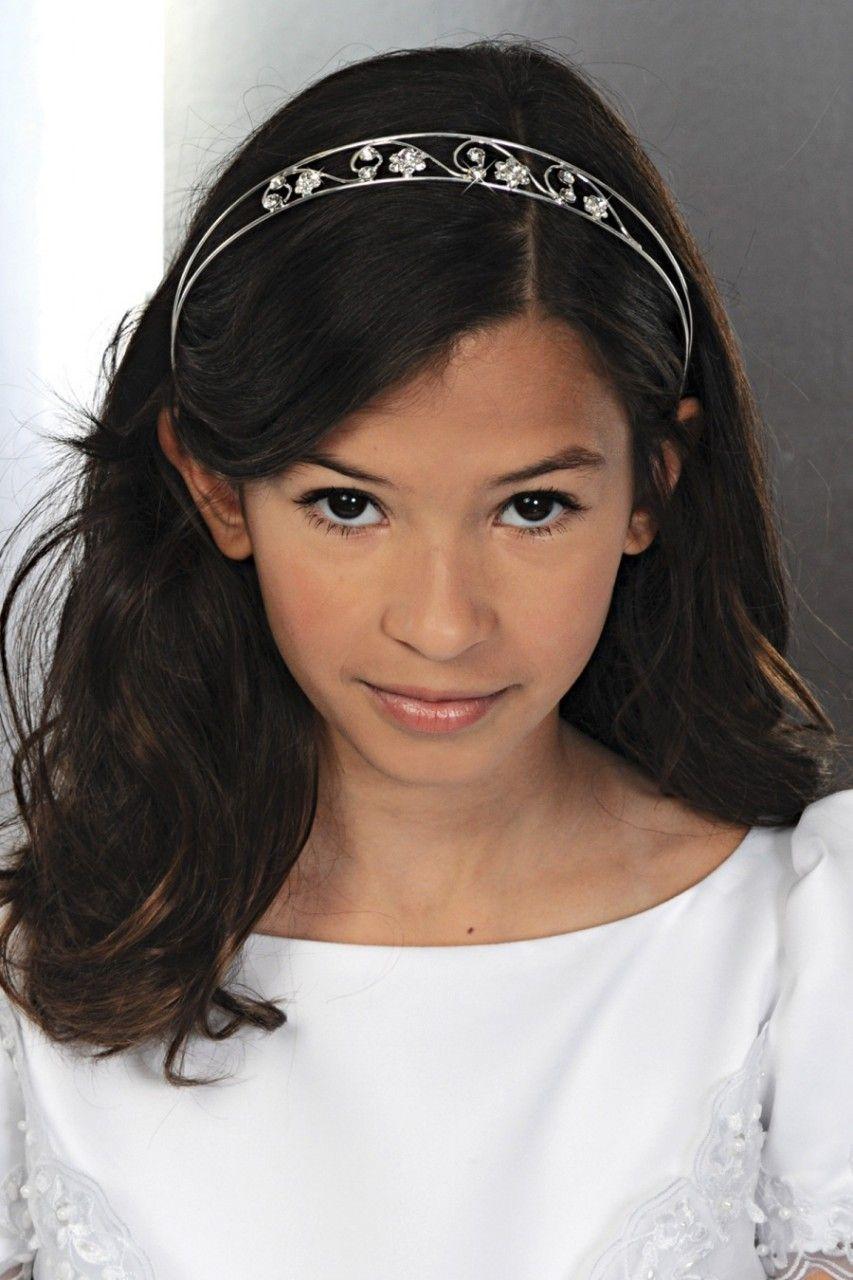 Hair Accessories Inc - Corrine first communion tiara girls hair accessories ch212