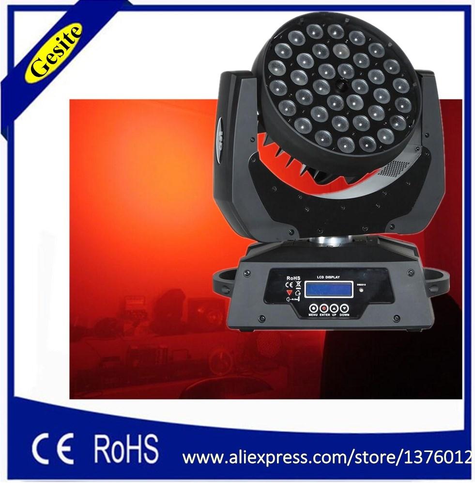 400.52$  Buy now - http://alilxb.worldwells.pw/go.php?t=32536119853 - Black Cover 36Pcs*18W RGBWA UV  Led Moving Head Wash Light Hot Sell Led Moving Heads 90V-240V led Stage Wash Lights