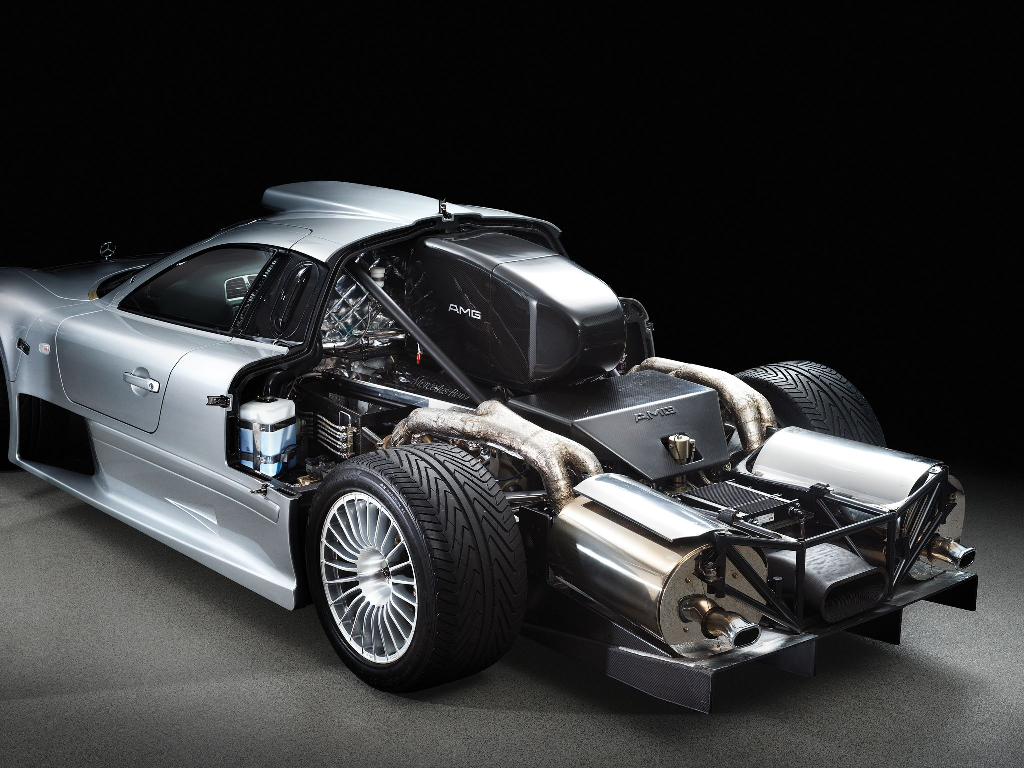 Mercedes Benz Clk Gtr Amg Road Version Behemoth Of An Engine