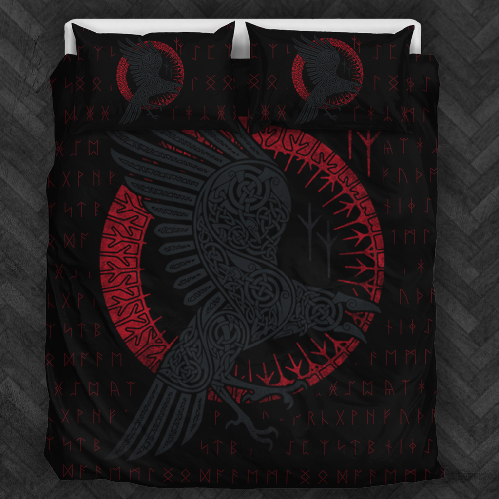 New viking raven bedding set Pink bedding set, Boho