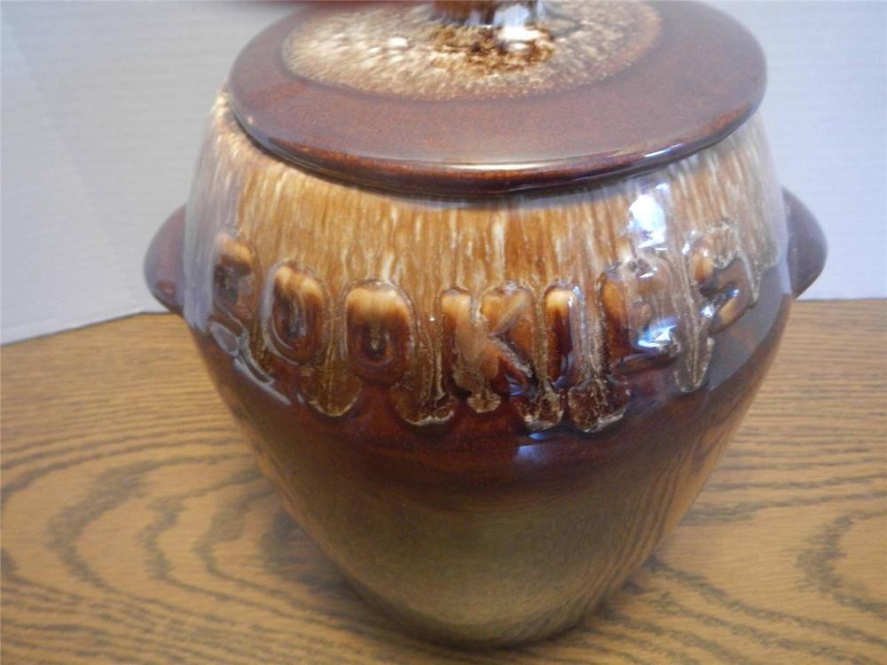 Best Vtg Mccoy 1960S Kathy Kale Brown Drip Cookie Jar W Lid Euc 400 x 300
