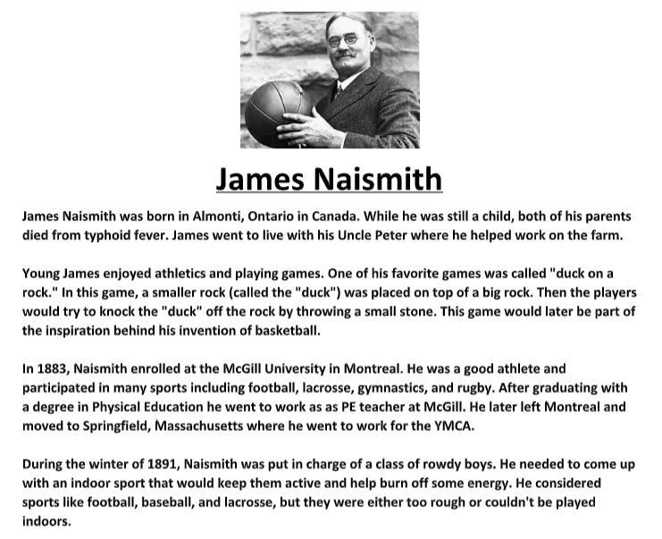 Jame Naismith Biography And Assignment Online Essay Writer Narrative The Holocaust