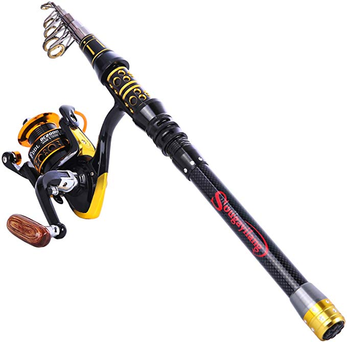 Sougayilang Fishing Rod Reel Combos Telescopic Fishing Pole
