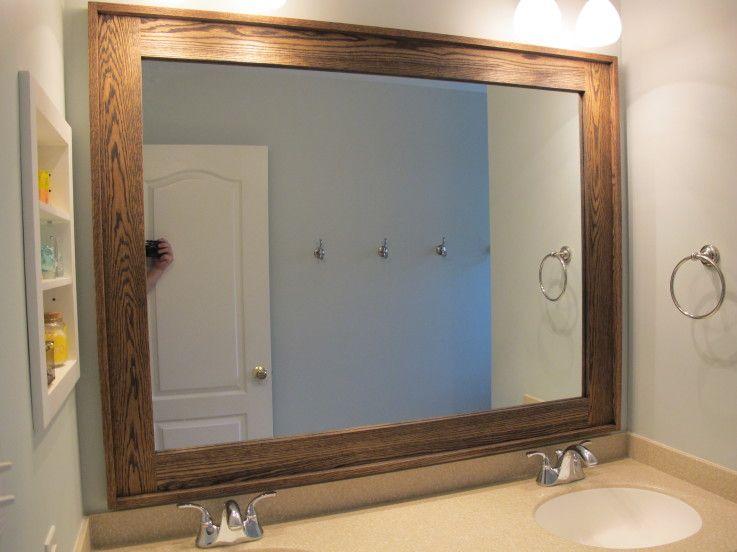 Diy Oak Bathroom Mirror Frame Kreg