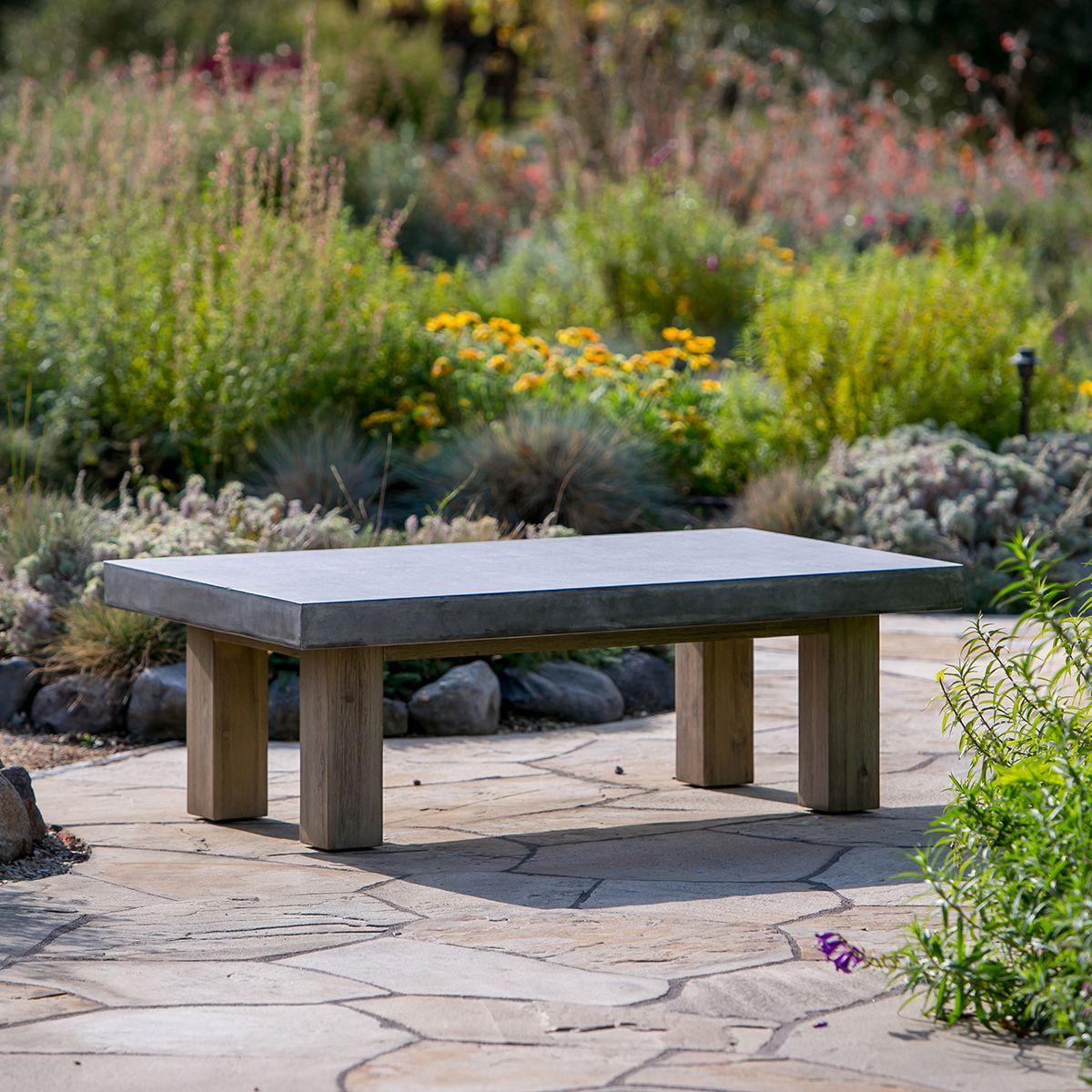 Bordeaux table concrete top u patio design spaces pinterest