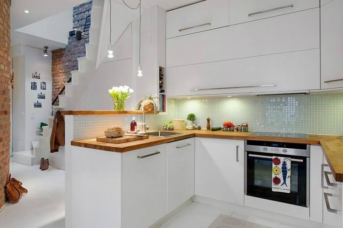 40 photos de cuisine scandinave - les cuisines de rêve choisies pour - hotte integree dans meuble haut