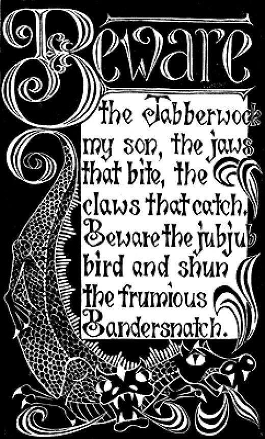 The Jabberwocky With Images Jabberwocky Poem Alice And