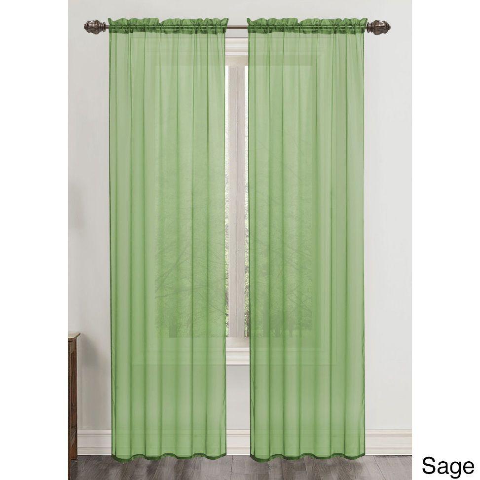 Rt Designer Collection Celine Sheer 90 Inch Rod Pocket Curtain