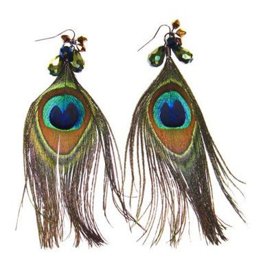 Bead Landing™ Cotillion Peacock Feather Earrings