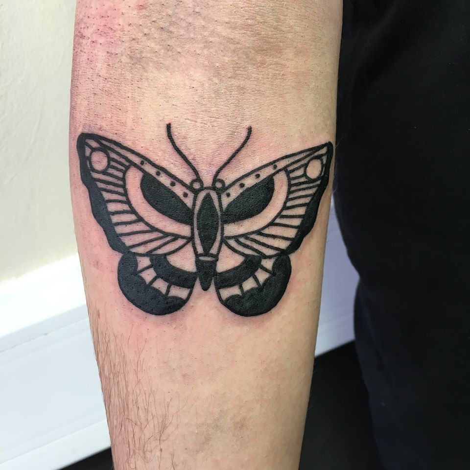 Blackwork Butterfly By Paul Devilsown Devilsowntattoos Leicester Leicesterink Leicestertattoo Tattoo Butterfly Butterflytattoo Animaltat Tatuagem Tatoo