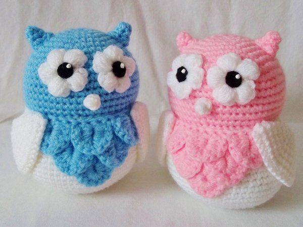 Cute Little Amigurumi Owl : Amigurumi cute owl twins by haleygeorge crochet knit yarn