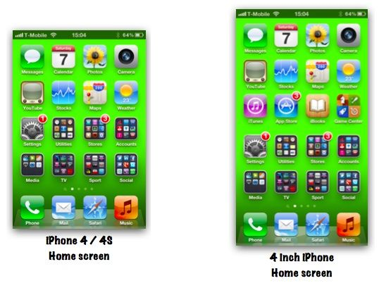 Apple Could Achieve a 4-Inch iPhone Display by Increasing Height Only