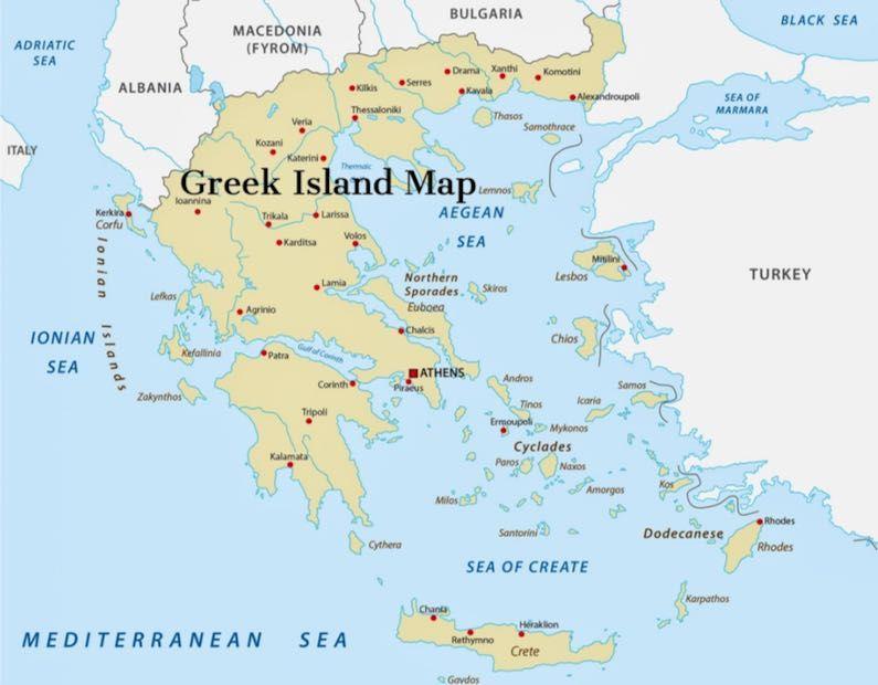 Map of the Greek Islands - Mykonos, Santorini, Crete ... Map Greek Islands on switzerland map, greece map, mykonos map, zakynthos map, shetland islands map, kos map, tuscany map, hawaiian islands map, arabian islands map, tokyo map, popular islands map, lost islands map, kefalonia map, singapore map, lesvos map, bohemian islands map, turkish islands map, portugal map, thessaloniki map, patmos map, south africa map, corfu map, santorini map, chania map, mediterranean map, fiji map,