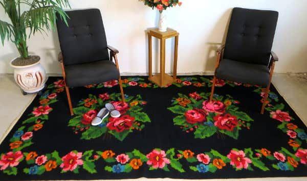 Häkelteppich kinderzimmer ~ 1.58x2.78m 5.18x9.12ft turkish kilim rugs rose rugs floral rugs