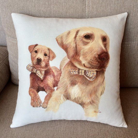 1dceb072e8b3 Personalized dog pillow Hand painted dog portrait custom Pet pillow custom Pet  loss gifts Gift for d