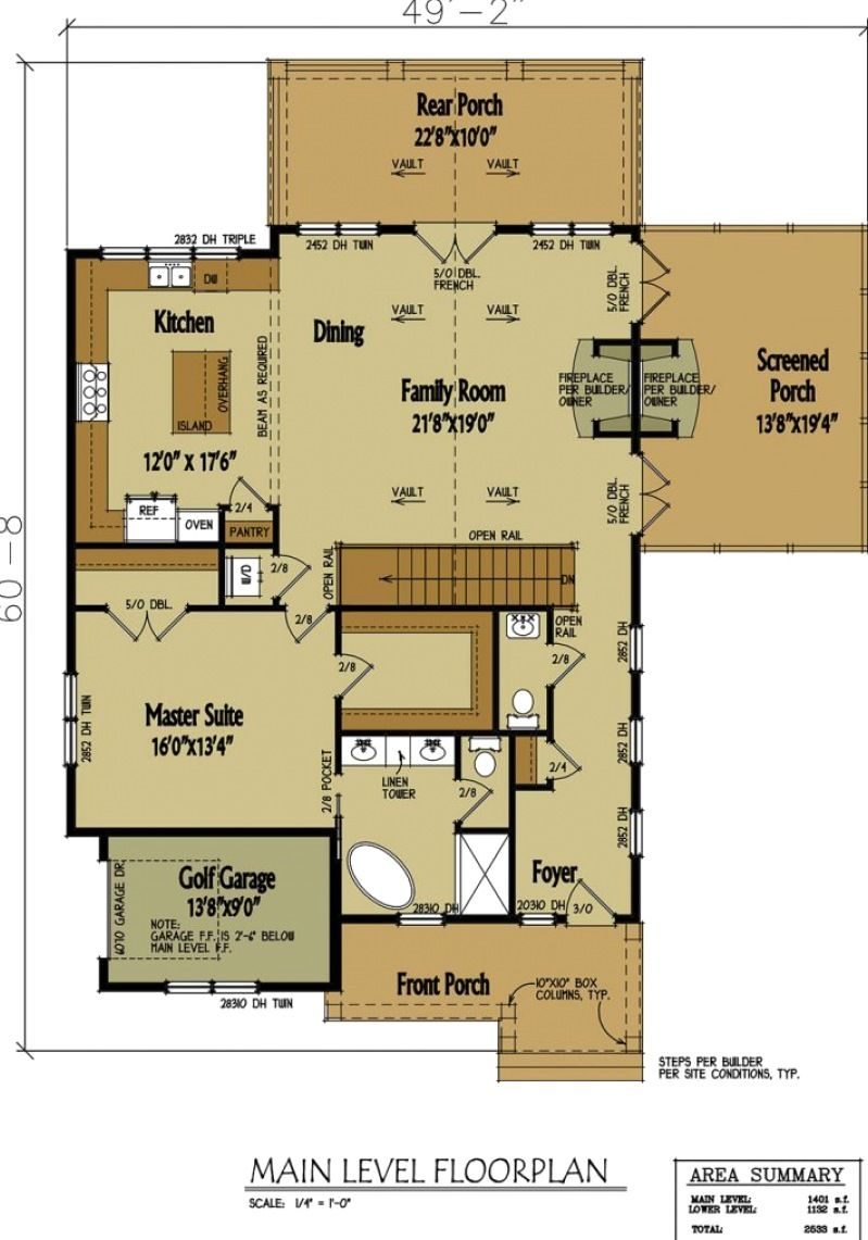 Small Cabin Home Plan With Open Living Floor Plan