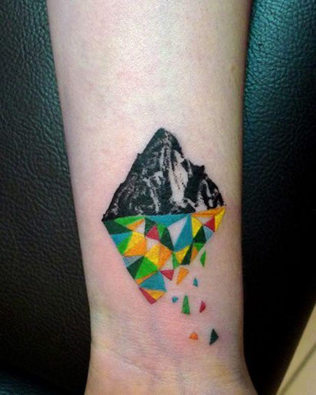 Geometric Wrist Tattoo: Geometric Wrist Tattoo