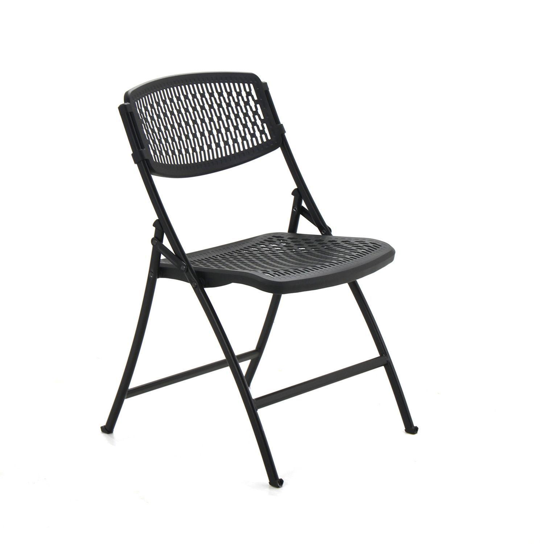 Mity Lite Flex Folding Chair Black Choose Your Quantity