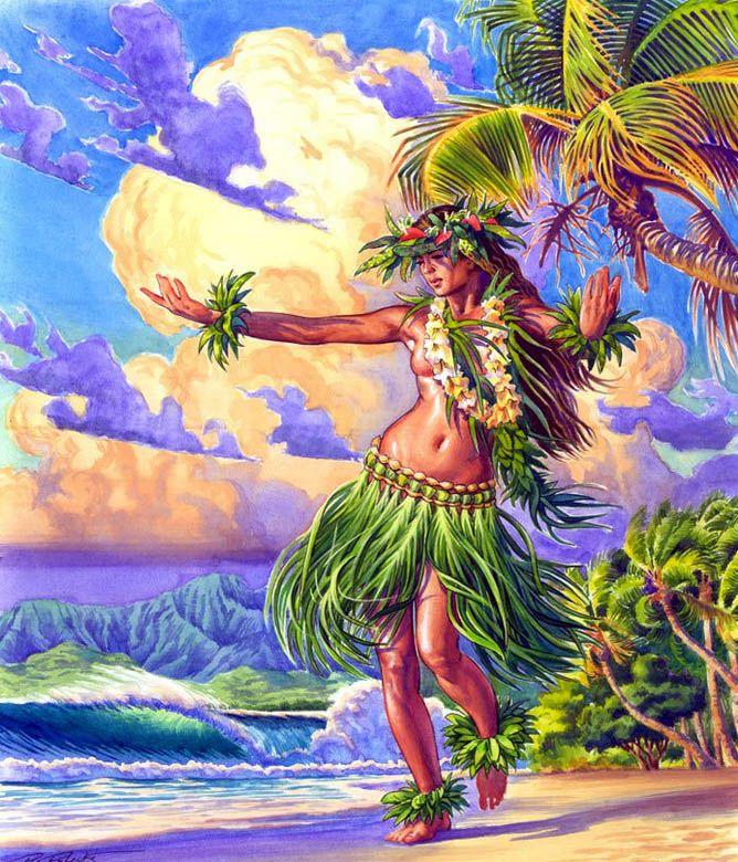 Beach Girl By Phil Roberts Essence Of Polynesia Em