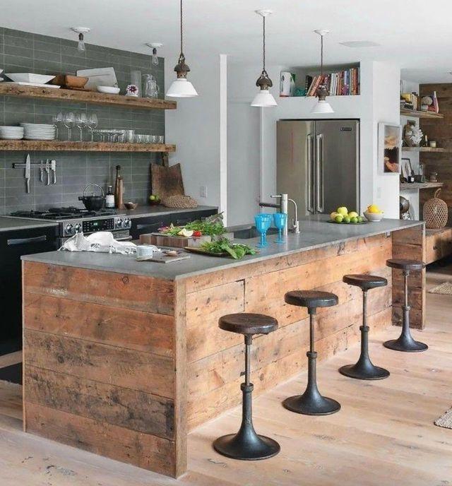 Deco cuisine bistrot  12 idées déco Kitchens, Inside design and Bar - Idee Deco Cuisine Vintage