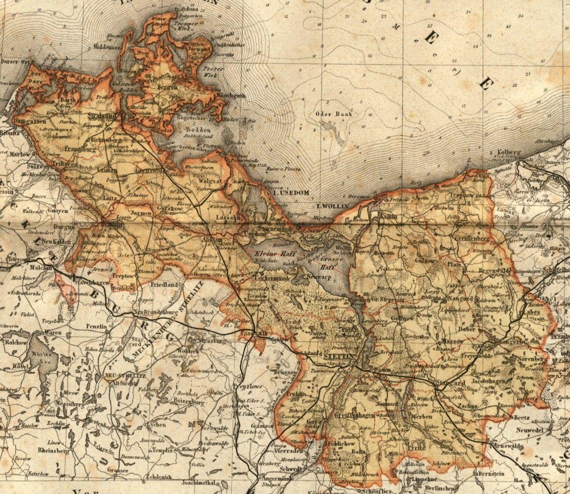 Vorpommern Illustrierte Karten Vorpommern Landkarte