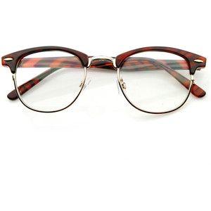 Vintage Optical RX Clear Lens Clubmaster Wayfarer Glasses 2946 49mm